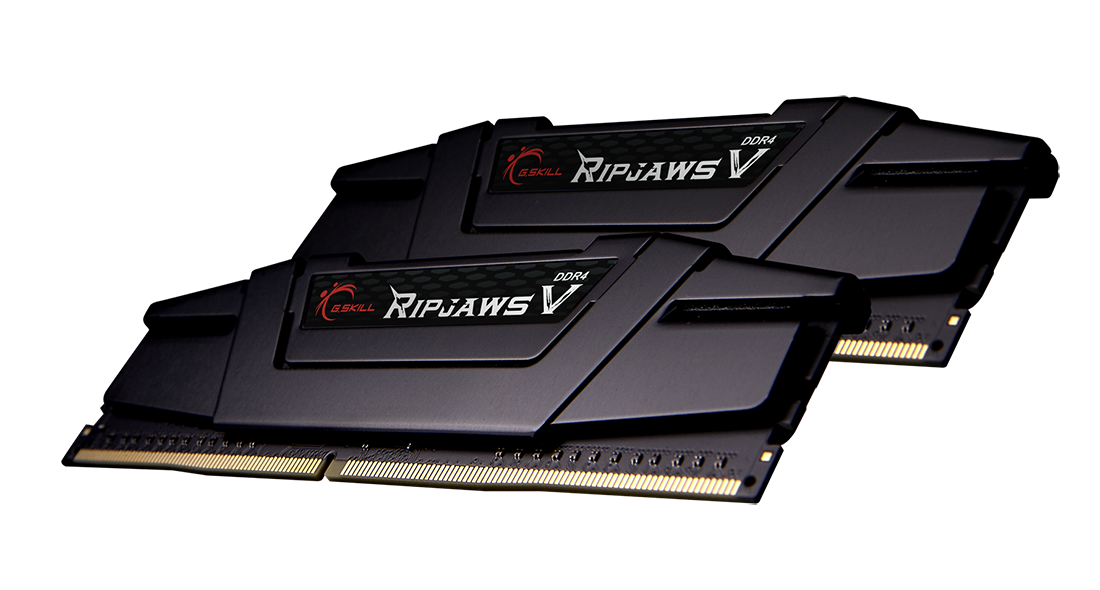 Ripjaws V Series DDR4 PC4-28800 3600 MHz 288-Pin Desktop Memory Model F4-3600C18D-32GVK 2 x 16GB G.SKILL 32GB