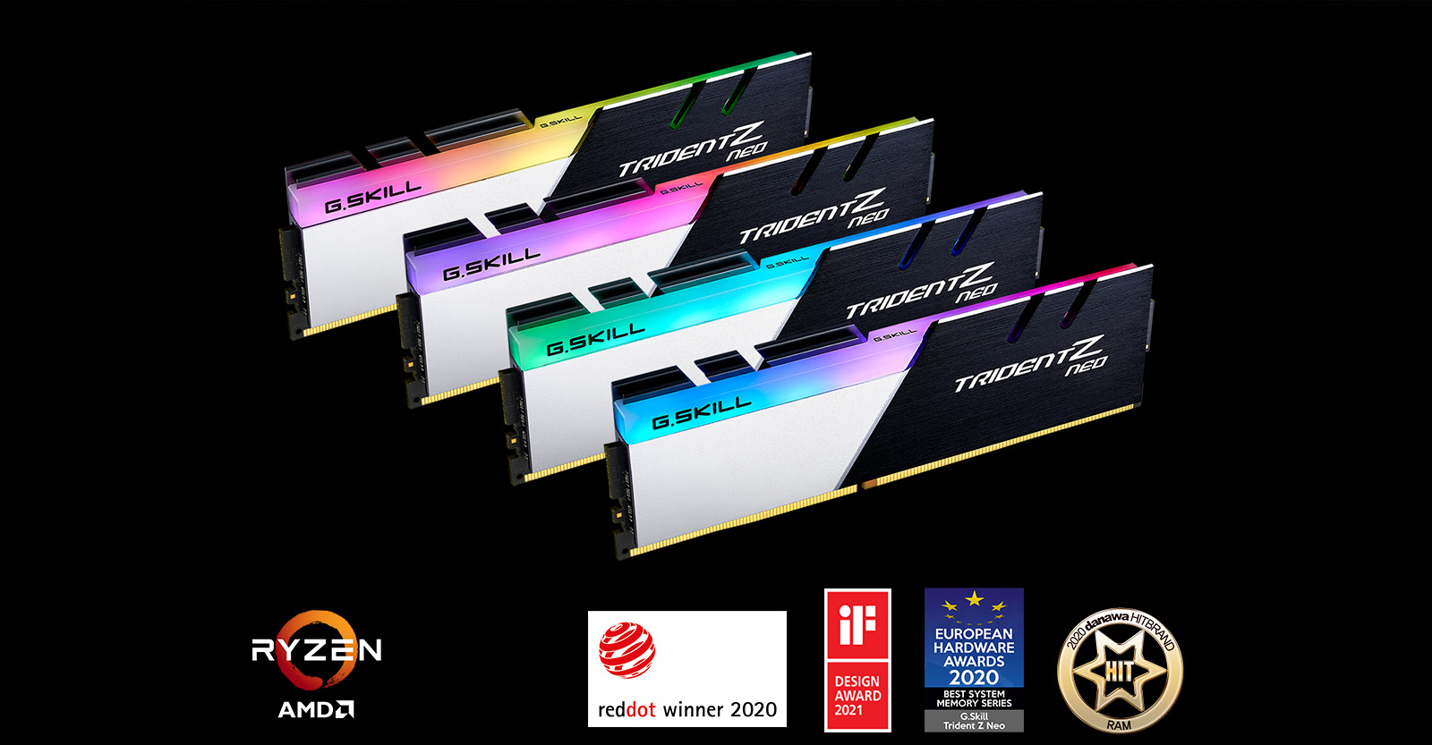 G SKILL Trident Z Neo For AMD Ryzen Series 32GB 2 x 16GB 288 Pin RGB DDR4  SDRAM DDR4 3200 F4 3